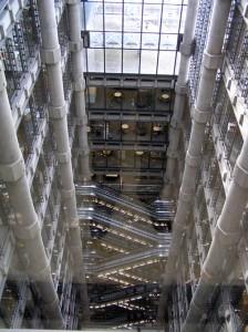 Lloyd´s Sicht auf die Rolltreppen aus dem obersten Stockwerk