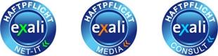 exali Haftpflicht-Siegel - net-IT, media, consulting