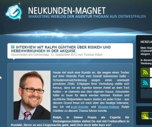 Screenshot Neukunden Magnet Blog