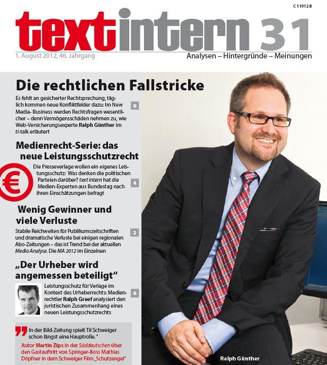 Ralph Günther Cover textintern Ausgabe 31_2012