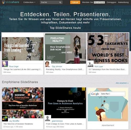 SlideShare: Datenschutzverstöße, Abmahnungen – und eine Lösung