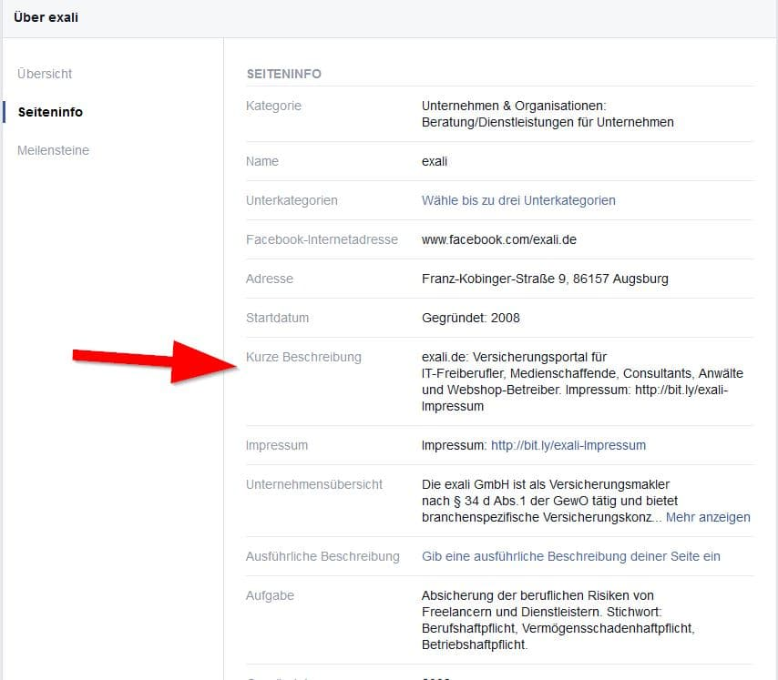 """: Impressums-Link im Info-Bereich erfüllt die """"Zwei-Klick-Regel""""."""