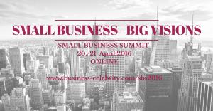 Small Business online Summit am 20. und 21. April.