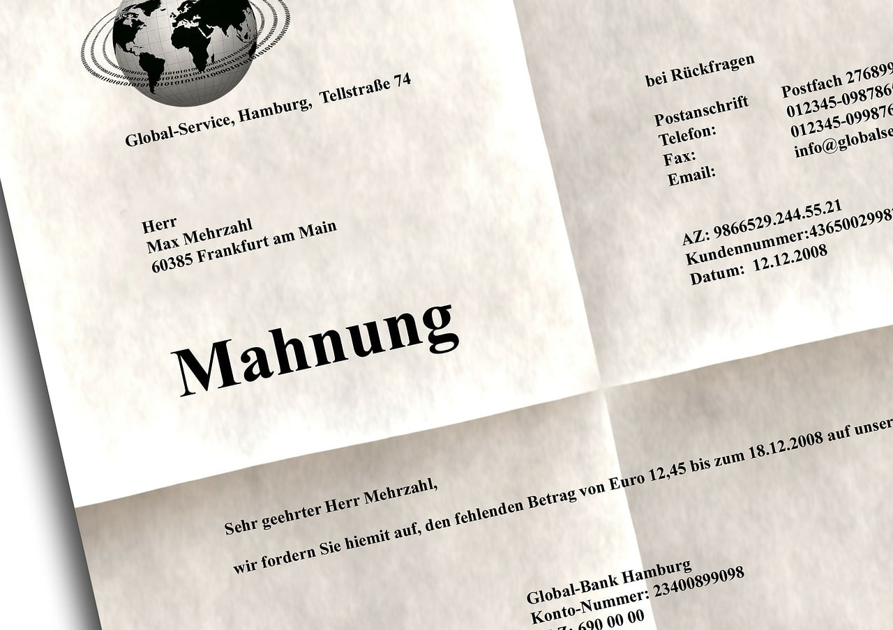 So Schreibst Du Eine Richtige Mahnung Ralph Günther Blog
