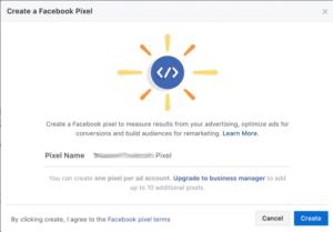 Facebook Pixel erstellen