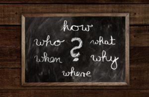 Wer, wie, was, warum? – wer nicht fragt, bleibt dumm! Und ihr gebt mit eurem Content die richtigen Antworten auf die Suchanfragen!