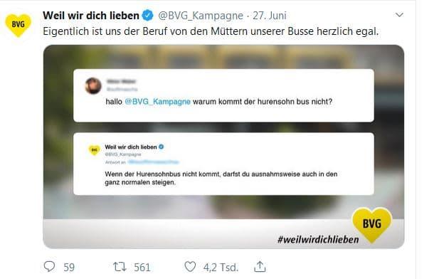 BVG Twitter Post