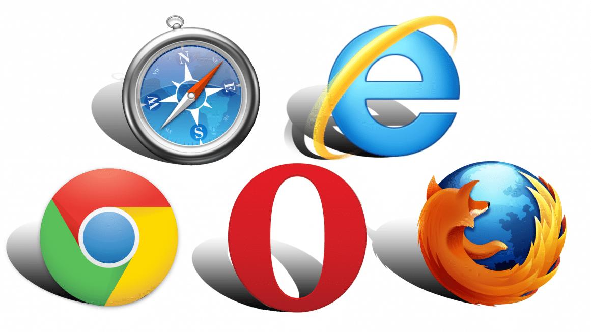 Übersicht verschiedenener Browser