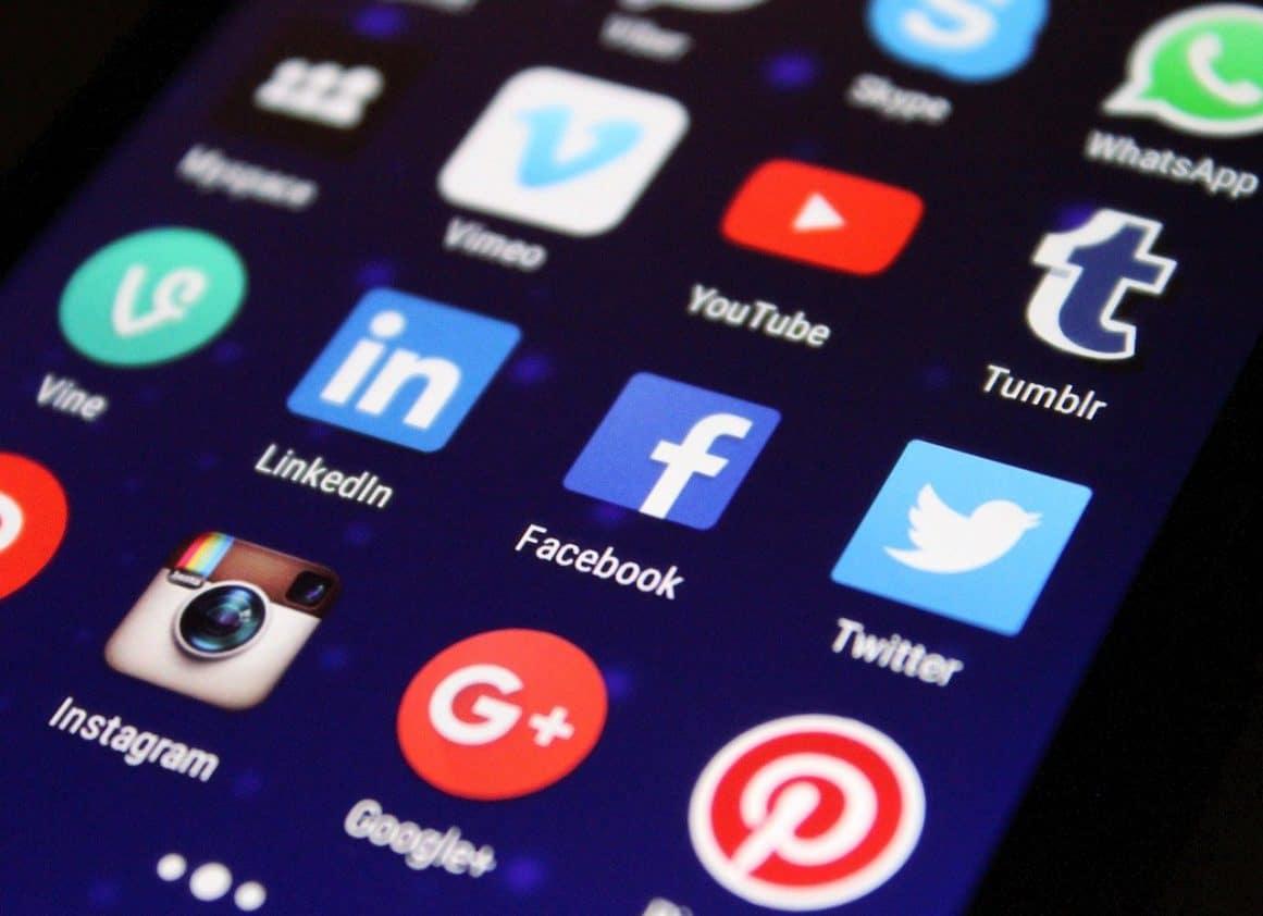 Social Media Apps auf Smartphone