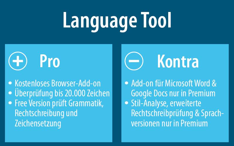 Mehr zu Language Tool findest du hier: languagetool.org