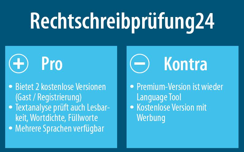 Mehr zu Rechtschreibprüfung24 findest du hier: rechtschreibprüfung24.de